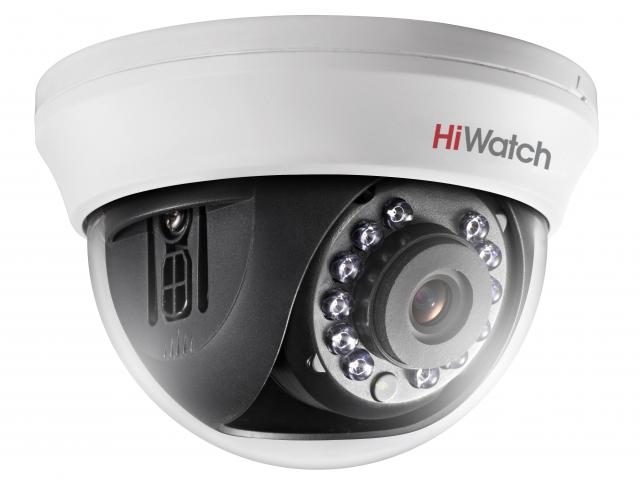 2Мп купольная HD-TVI видеокамера с ИК-подсветкой до 20м