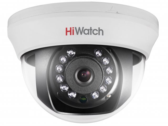 1 Мп купольная HD-TVI видеокамера с ИК-подсветкой до 20м
